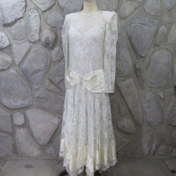 Vintage Lillie Rubin White Lace Dress